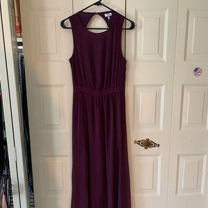 Purple Keyhole  Dress